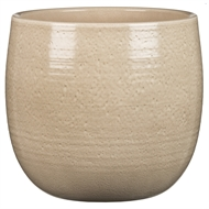 Scheurich 15 x 14cm Glazed Indoor Pot - Sand