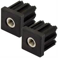 Richmond 40mm x M12 Square Threaded Tube Insert - 2 Pack