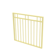 Protector Aluminium 975 x 900mm Double Top Rail 2 Up 2 Down Garden Gate - To Suit Gudgeon Hinges - Primrose