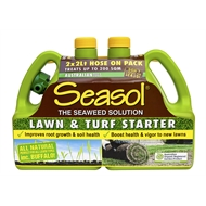 Seasol 2 x 2L Hose On Lawn And Turf Starter - Twin Pack