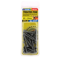 Zenith 8G x 30mm Tufcote® Countersunk Rib Head Treated Pine Screws - 30 Pack