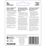 Madico 48mm Beige Round Felt Floor Savers - 4 Pack