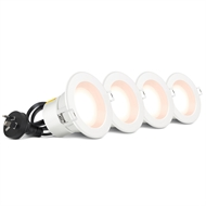 HPM DLI 70mm Fixed LED Downlight - 4 Pack