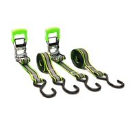 Lion 3m 340kg L/C Reflx Ratchet Tie Down - 2 Pack