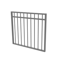 Protector Aluminium 975 x 900mm Double Top Rail All Up Garden Gate - To Suit Gudgeon Hinges - Palladium Silver