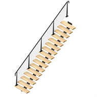 Weldlok Monostringer Timber and Wire 16 Tread Stair Kit