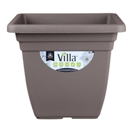 Northcote Pottery 400mm Taupe Square Villa Plastic Pot