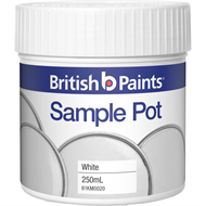 British Paints 250ml White Sample Pot