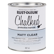 Rust-Oleum 887ml Matt Clear Chalked Protective Topcoat