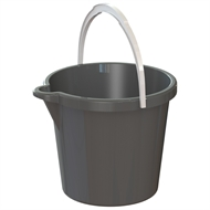 HomeLeisure 11L Charcoal Trend Bucket