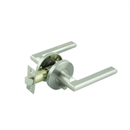 Ikonic Brushed Nickel Fellino Privacy Lever Set