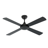 Arlec 130cm 4 Blade Colorado Matte Black Ceiling Fan