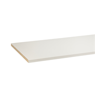 1200 x 445 x 16mm ABS White Melamine