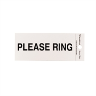 Sandleford 100 x 50mm Please Ring Silver Self Adhesive Sign