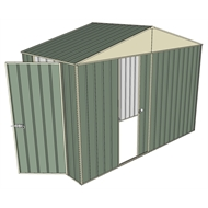 Build-a-Shed 3.0 x 1.5 x 2.3m Gable Single Hinged Side Door Shed - Green