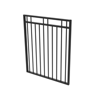 Protector Aluminium 975 x 1200mm Double Top Rail 2 Up 2 Down Gate - To Suit Gudgeon Hinges - Satin Black