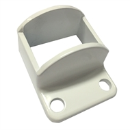 Protector Aluminium 38 x 25mm Panel Bracket - Pearl White