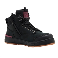Hard Yakka Black Side Zip Womens Boot - Size 4