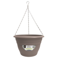 Northcote Pottery 250mm Taupe Villa Plastic Hanging Basket