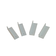 Protector Aluminium 25 x 20 x 80mm Pearl White Easy Screen Fixing Bracket - 4 Pack