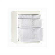 Flexi Storage 740 x 573 x 430mm 6 Runner White Timber Frame