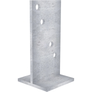 Dunnings 250 x 180 x 130mm Galvanised Bolt Down T Blade Stirrup