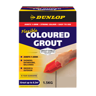 Dunlop 1.5kg Flexible Coloured Grout - Slate Grey