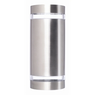 Brilliant 35W Stainless Steel Kimberley Up Down Exterior Wall Light
