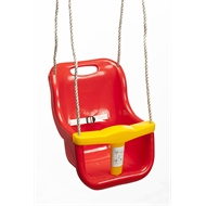 Swing Slide Climb Red / Yellow Plastic Baby Swing Seat