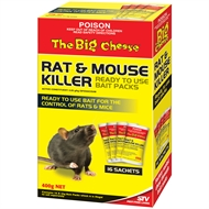The Big Cheese Rat & Mouse Killer Bait Packs 400g