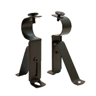 Windoware 75 - 95mm Black Metal Adjustable Bracket - 2 Pack