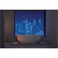 Bellessi 445 x 1200 x 4mm Motiv Graphic Polymer Bathroom Panel - Manhattan Blues