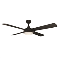 Mercator 130cm Luna Ceiling Fan with LED Light - Black