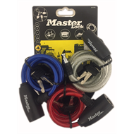 Master Lock 1.8m x 8mm Bike Cable Lock - 3 Pack