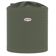 Polymaster 7200L Round Corrugated Poly Water Tank - Mist Green
