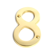 Sandleford 100mm 8 Brass Numeral