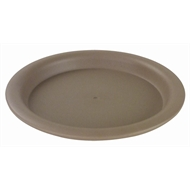 HomeLeisure Taupe Round Balconia Saucer - 160mm
