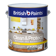 British Paints 4L White  Low Sheen Clean & Protect Kitchen And Bathroom Paint