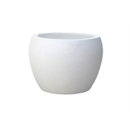 Northcote Pottery Small White Precinct Lite Terrazzo Moon Pot