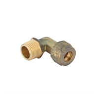 Kinetic 15C x 15MI Male Brass Compression Elbow