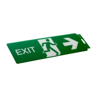 Sandleford 330 x 110mm Plastic Exit Right Sign