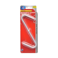 Zenith 166 x 6mm Zinc Plated Large Butcher's Hook - 2 Pack