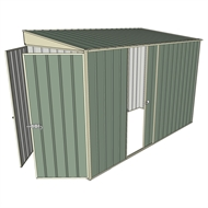 Build-a-Shed 1.5 x 3 x 2m Single Sliding Side Door Skillion Shed - Green