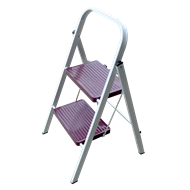 Syneco 100kg 2 Step Steel Household Folding Ladder - Purple
