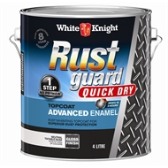 White Knight 4L Rust Guard Quick Dry Advanced Enamel Gloss Neutral