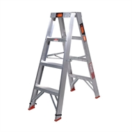 Rhino 1.2m 150kg Double Sided Aluminium Step Ladder