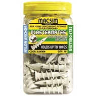 Macsim 45mm Nylon Plasterboard Anchor - 70 Pack