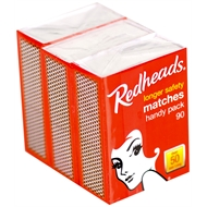 Redheads Handy Pack Matches - 3 Pack