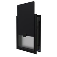 Hakuna Pets Large Deluxe Aluminium Pet Door - Black