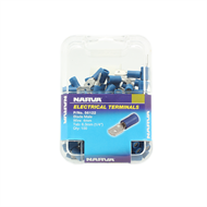 Narva 4mm Electrical Terminal Male Blade - 100 Pack